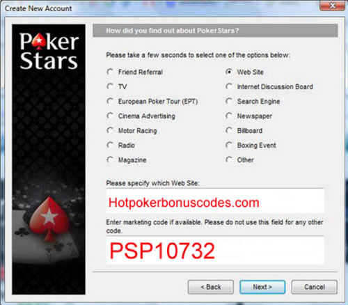 pokerstars bonus codes for existing players